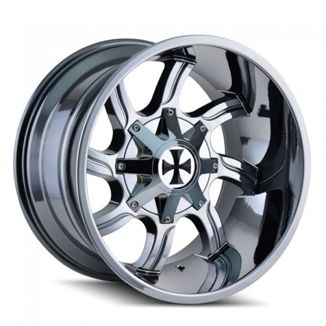 Roue Cali Off-Road TWISTED, chrome