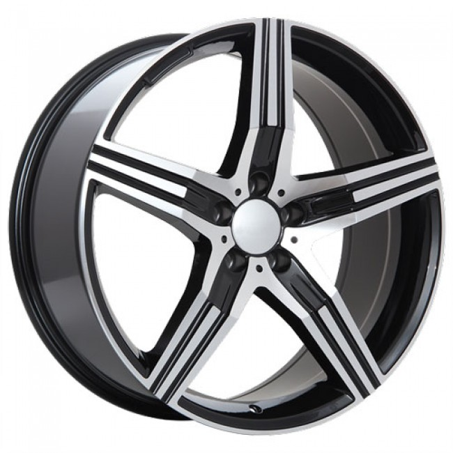 roue Art Replica Wheels R59, noir lustre machine