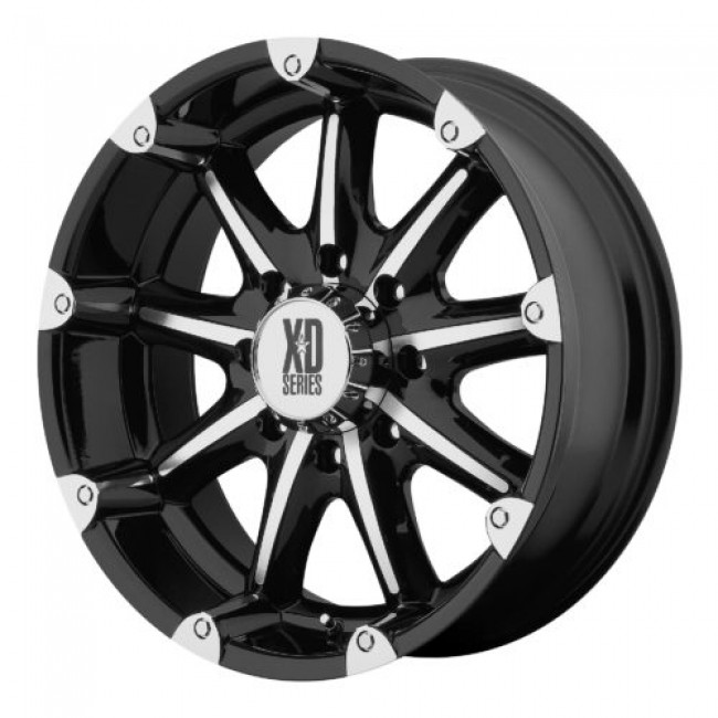 Roue XD Series by KMC Wheels XD779 BADLANDS, noir lustre machine