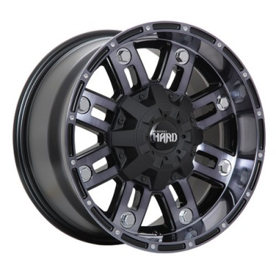 roue Dai Alloys Traxx, noir lustre machine (17X9, 6x139.7, 108.1, déport 20)
