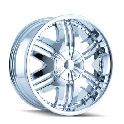 Roue Dip PHOENIX, chrome (22X9.5, 6x114.3/139.7, 78.1, déport 18)