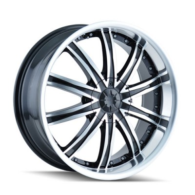 Roue Dip ICE, noir machine (22X8, 5x108/114.3, 72.62, déport 35)