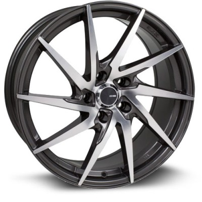 Enkei PW10, Gris Fonce Machine/Dark Gray Machine, 16X7, 5x114.3 ( offset/deport 45), 72.6