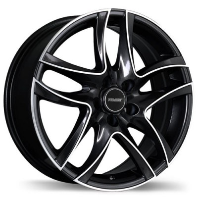 roue Fastwheels Spider, noir machine (18X7.5, 5x114.3, 73, déport 42)
