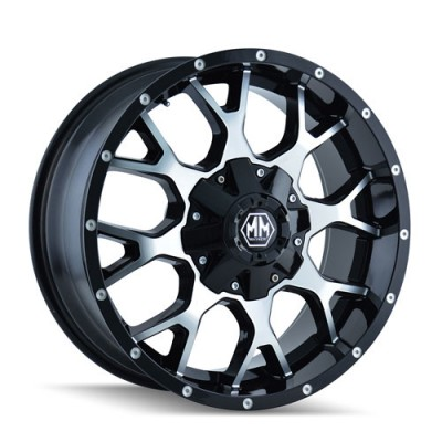 Roue Mayhem Warrior, noir machine (17X9, 6x139.7, 108.1, déport -12)