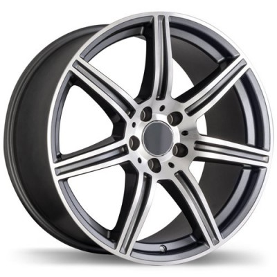 roue Replika Wheels R142, gris machine (18X8.5, 5x112, 66.4, déport 45)