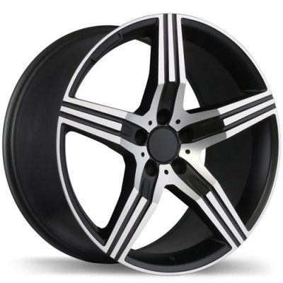 roue Replika Wheels R171, noir mat rebord machine (18X8.5, 5x112, 66.4, déport 45)
