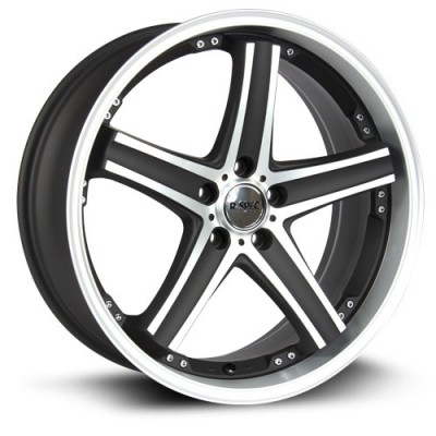 Roue RTX Wheels Alpha, noir machine (18X8, 5x114.3, 73.1, déport 38)