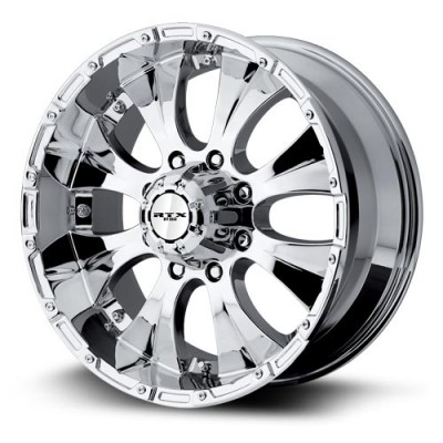 Roue RTX Wheels Crawler, chrome plaque (20X9, 8x165.1, 130, déport 18)