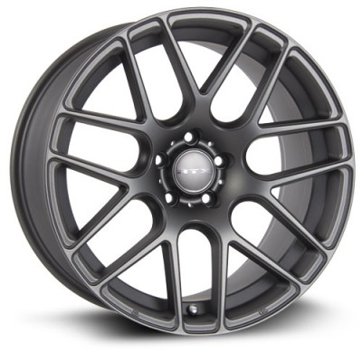 roue RTX Wheels Envy, gris gunmetal (21X10, 5x130, 71.5, déport 45)