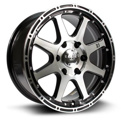 Roue RTX Wheels Granite, noir machine (18X8, 5x150, 110, déport 30)