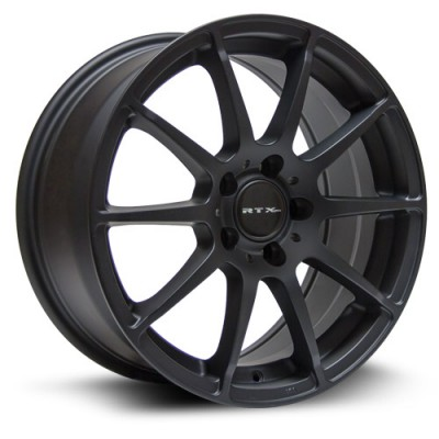 Roue RTX Wheels Munich, noir mat machine (17X8, 5x112, 66.6, déport 45)