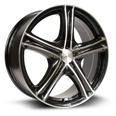 Roue RTX Wheels Stratus, noir machine (16X7, 5x105/114.3, 73.1, déport 38)