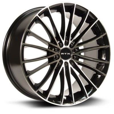 Roue RTX Wheels Turbine, noir machine (18X8, 5x100/114.3, 73.1, déport 45)