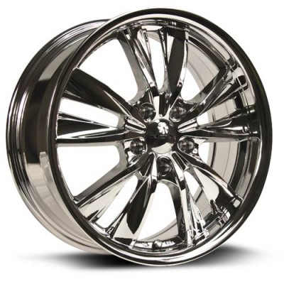 Roue RTX Wheels Twist, chrome (17X7, 5x114.3, 73.1, déport 40)