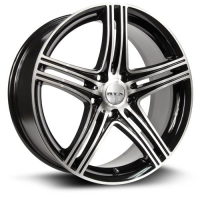 Roue RTX Wheels Zen, noir machine (18X7.5, 5x114.3, 73, déport 40)