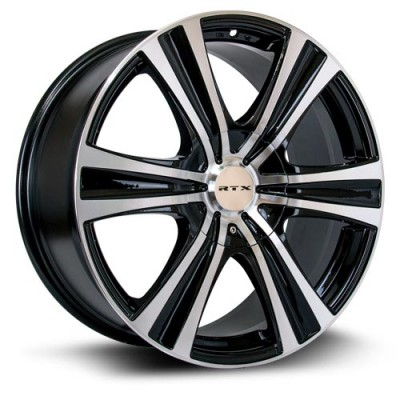 RTX Wheels Aspen, Noir Machine/Machine Black, 18X8, 6x120/139.7 ( offset/deport 15), 78.1