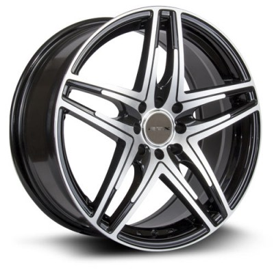 RTX Wheels Parallel, Noir Machine/Machine Black, 17X7.5, 5x108 ( offset/deport 38), 63.4
