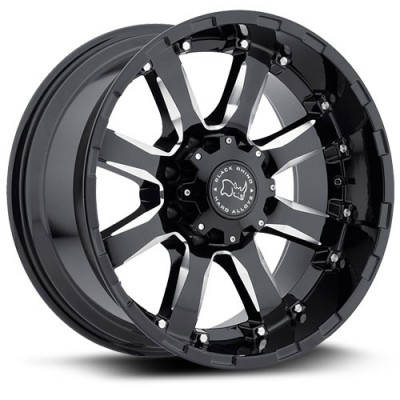 Roue Black Rhino Sierra, noir machine (17X9, 6x135, 87, déport 12)