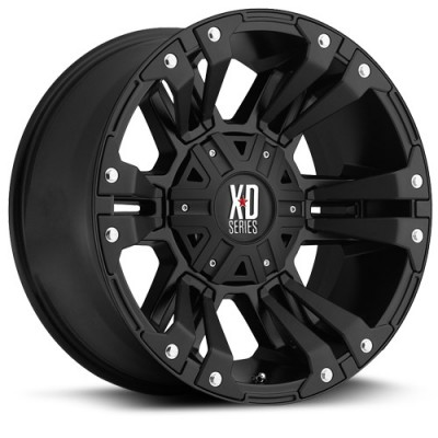 roue XD Series Monster II, noir mat (17X9, 5x127, 78.1, déport -12)