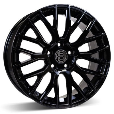 RSSW Custom Gloss Black / Noir Lustré, 18X8, 5x115 ,(déport/offset 15 ) 71.5 Chevrolet / GMC