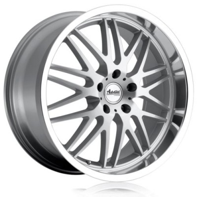 roue Advanti Kudos, argent rebord machine (18X8.0, 5x114.3, 73.1, déport 40)