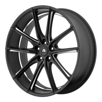 roue Adventus AVX-10, noir mat machine (20X8.5, 5x112, 74.1, déport 38)