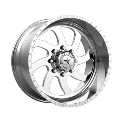 Roue American Force AFW76 BLADE SS, argent polie (20X10, 6x139.7, 78.1, déport -25)
