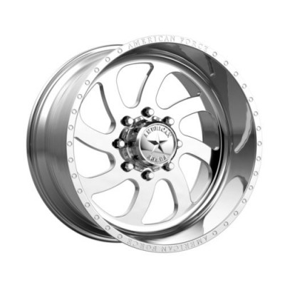 Roue American Force BLADE SS, argent polie (24X14, 8x165.1, 122, déport -73)