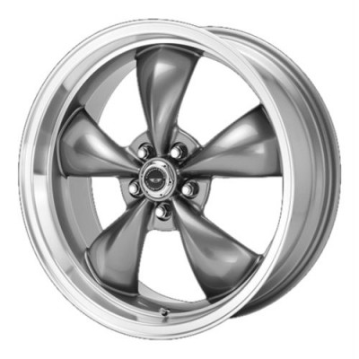Roue American Racing AR105 TORQ THRUST M, gris fonce machine (16X7, 5x100, 57.10, déport 35)