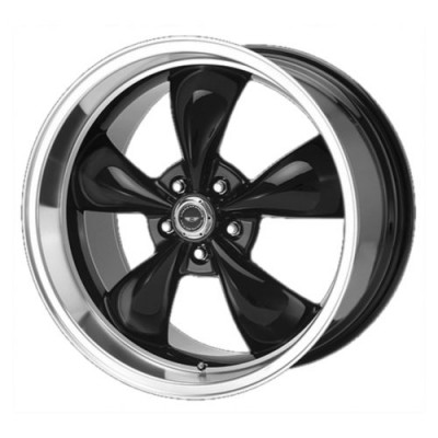 Roue American Racing AR105 TORQ THRUST M, noir lustre machine (16X7, 5x100, 57.10, déport 35)