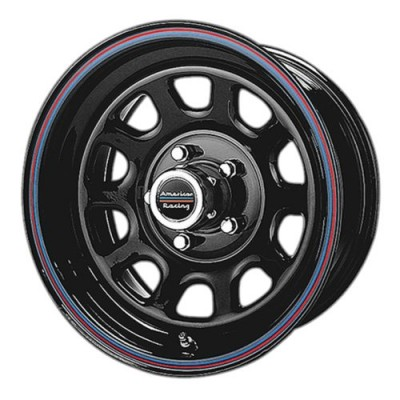 Roue American Racing AR767, noir lustre machine (15X8, 5x114.3, 72.60, déport -12)