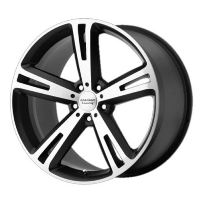 roue American Racing AR885 VILLAIN, noir mat machine (20X10, 5x112, 72.6, déport 38)