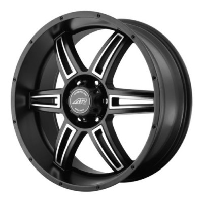 Roue American Racing AR890, noir machine (18X8, 6x139.7, 106.25, déport 35)