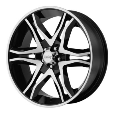 Roue American Racing AR893 MAINLINE, noir lustre machine (18X8.5, 6x135, 87.10, déport 30)
