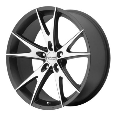 Roue American Racing AR903, noir lustre machine (17X8, 5x114.3, 72.6, déport 38)