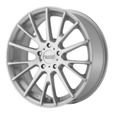 Roue American Racing AR904, argent machine (16X7, 5x115, 72.6, déport 40)