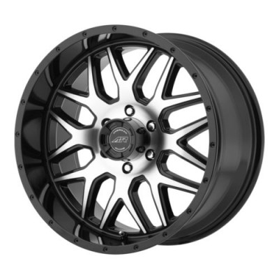 Roue American Racing AR910, noir lustre machine (20X9, 6x120, 83.06, déport 18)