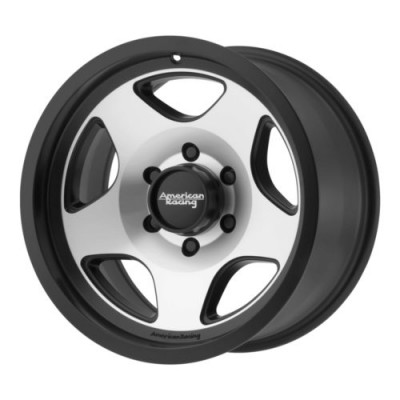 roue American Racing AR923 MOD 12, noir machine (17X9, 8x165.1, 130.81, déport 18)