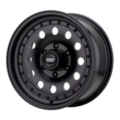 Roue American Racing OUTLAW II, noir satine (15X8, 6x139.7, 108, déport -19)
