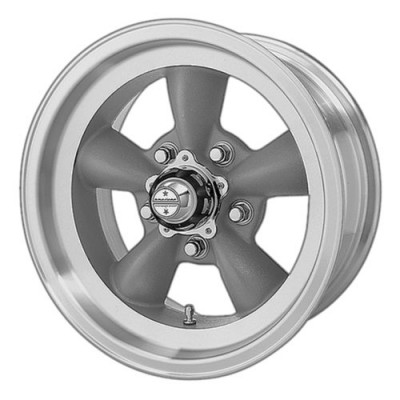 Roue American Racing VN105 TORQ THRUST D, gris fonce machine (15X4.5, 5x120.65, 83.06, déport -15)