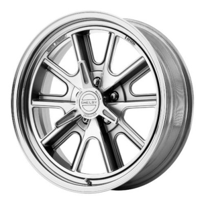 Roue American Racing VN427 SHELBY COBRA, argent polie (17X8, 5x120.65, 72.60, déport 0)
