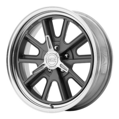 Roue American Racing VN427 SHELBY COBRA, gris machine (15X8, 5x120.65, 72.60, déport -25)