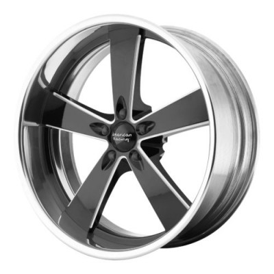 Roue American Racing VN472 BURNOUT, noir machine (17X7, , 72.60, déport 0)