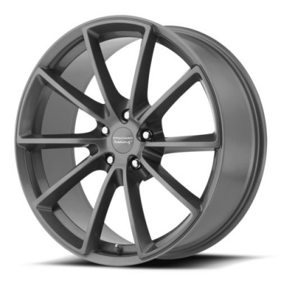 roue American Racing VN806 FAST BACK, gris anthracite (18X9, 5x114.3, 72.6, déport 38)