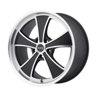 roue American Racing VN807 MACH 5, noir machine (17X8, 5x115, 72.6, déport 38)