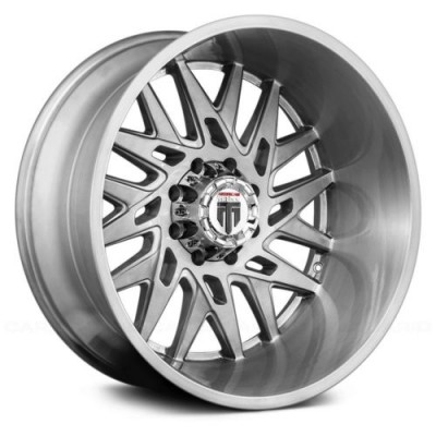Roue American Truxx DNA, gris machine (22X12, 6x139.7, 106.1, déport -44)