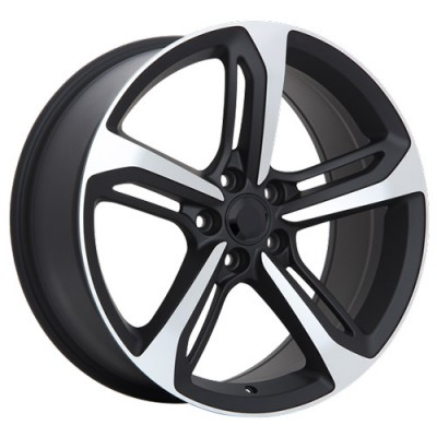 Roue Art Replica Wheels R73, noir machine (18X8, 5x112, 66.5, déport 35)