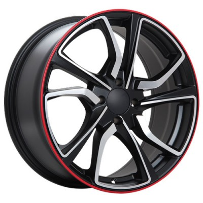 Roue Art Replica Wheels R79, noir machine (16X7, 5x114.3, 64.1, déport 40)