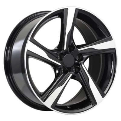 Roue Art Replica Wheels Replica 106, noir lustre machine (18X8.0, 5x108, 63.4, déport 42)